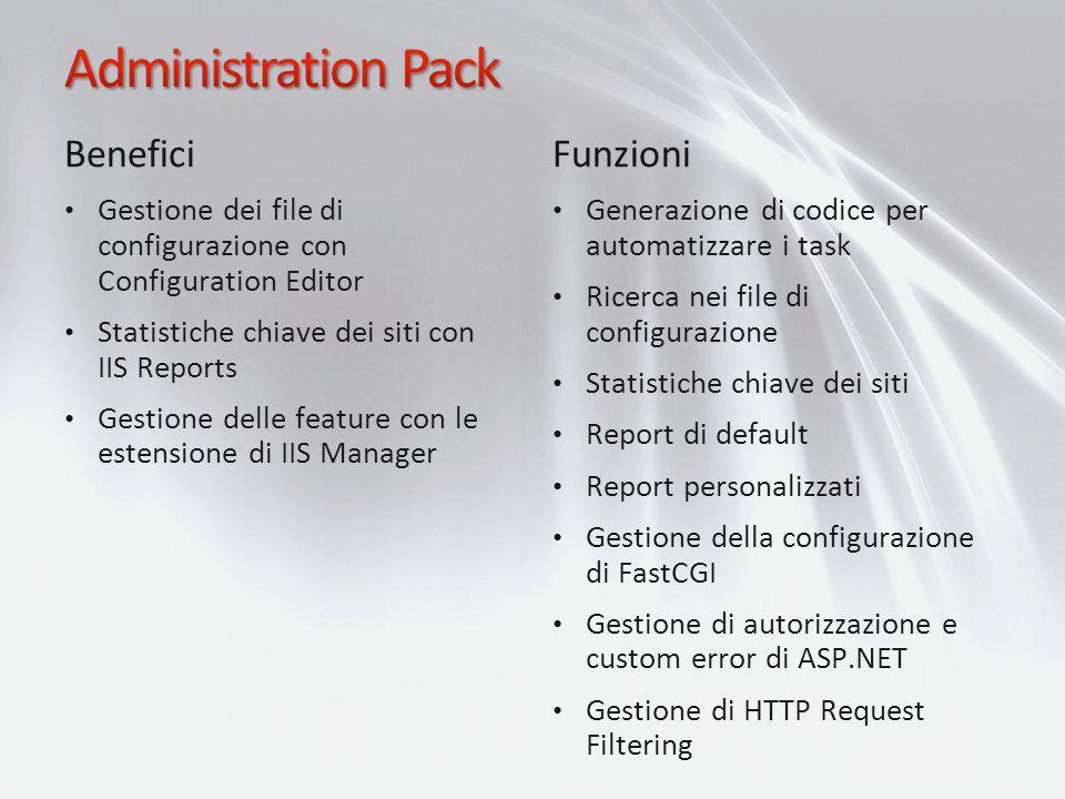 Administration Pack Benefici Funzioni