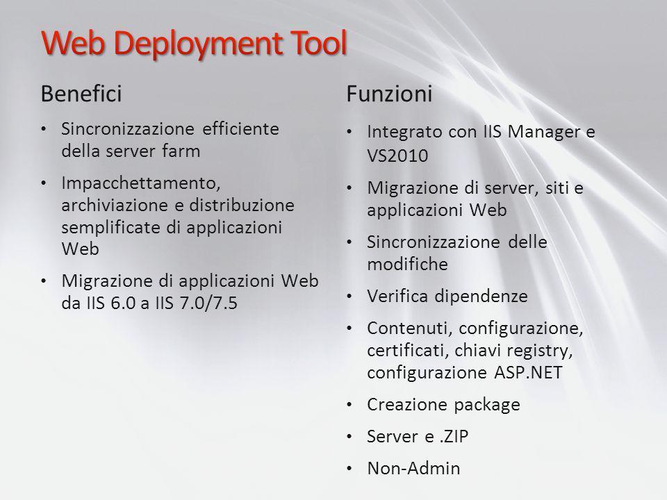 Web Deployment Tool Benefici Funzioni
