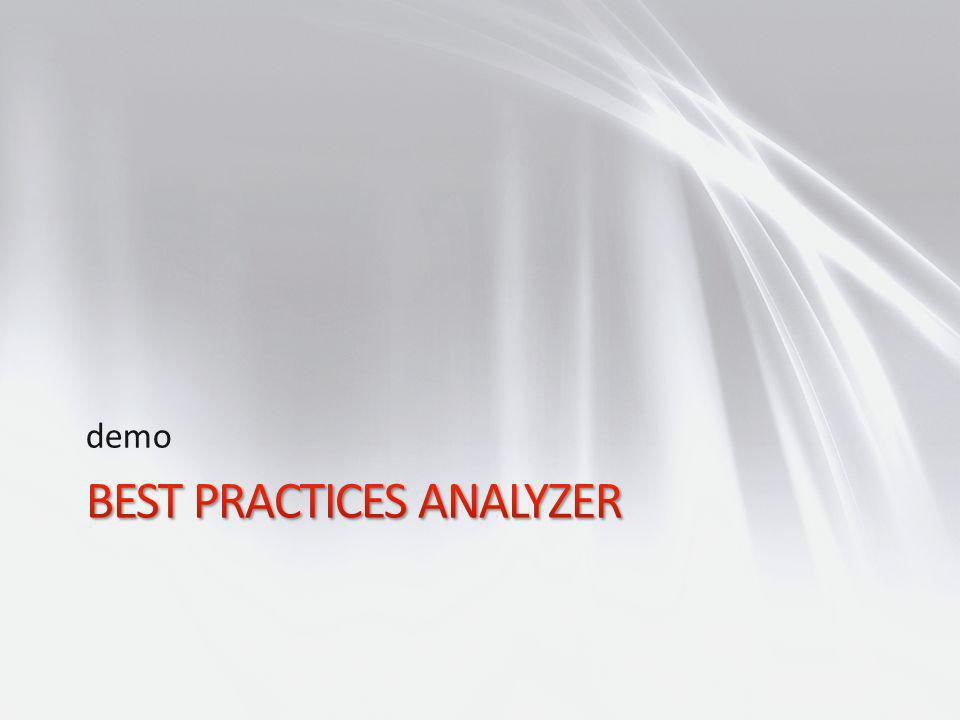 Best Practices Analyzer