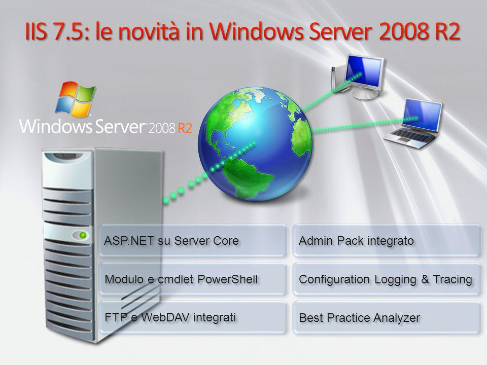 IIS 7.5: le novità in Windows Server 2008 R2