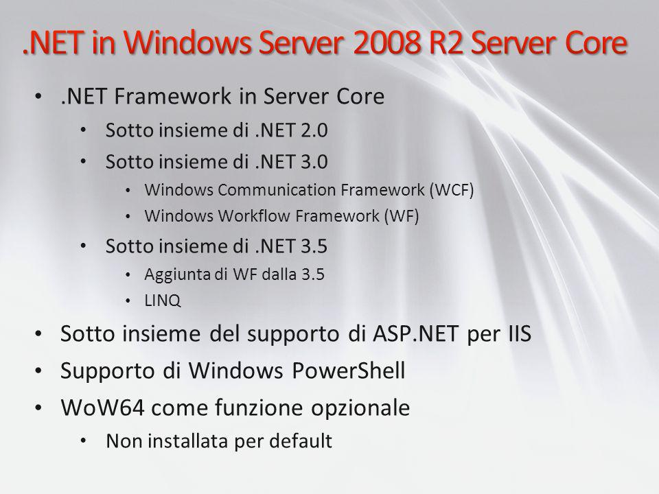 .NET in Windows Server 2008 R2 Server Core