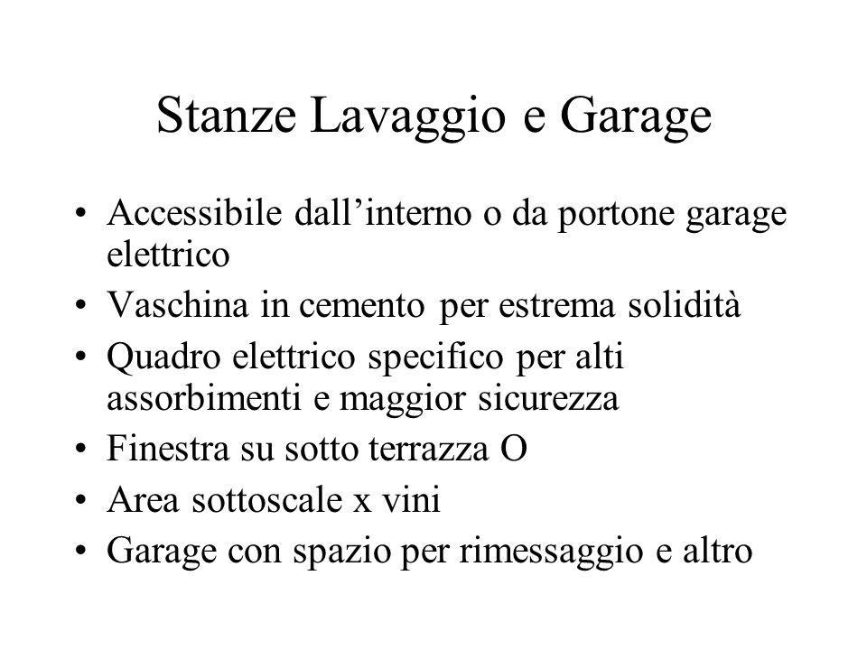 Stanze Lavaggio e Garage