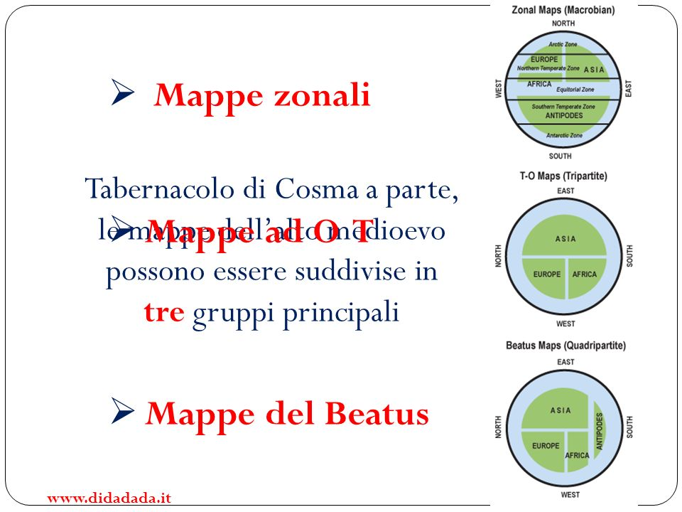 Mappe zonali Mappe ad O T Mappe del Beatus