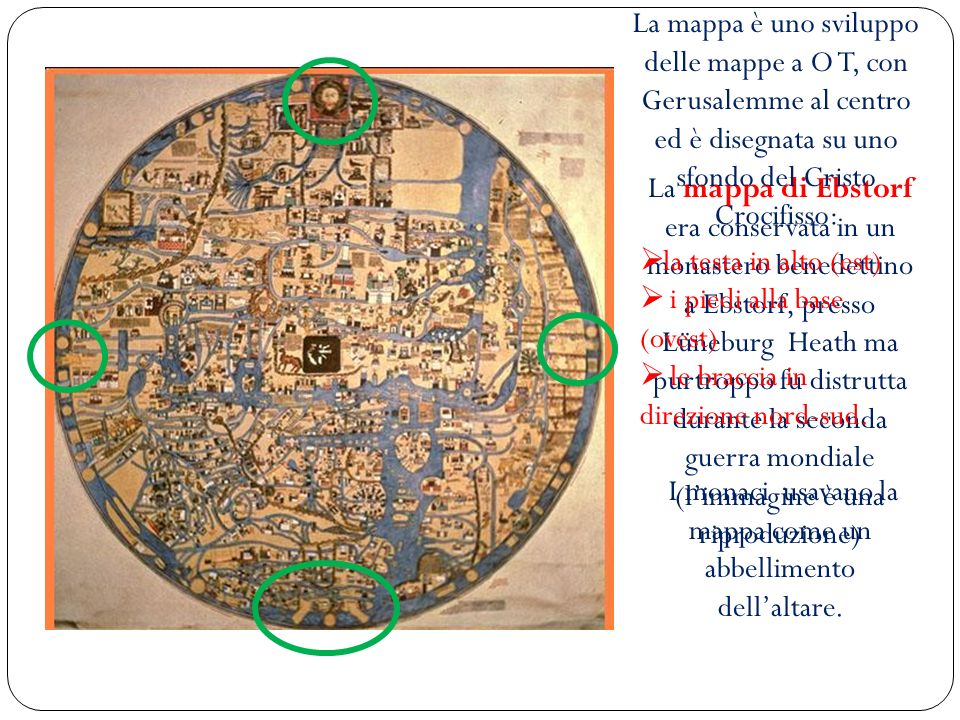 I monaci usavano la mappa come un abbellimento dell'altare.