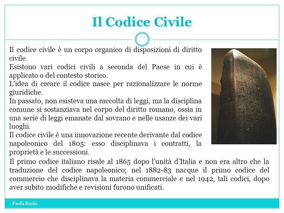 Il Codice Civile Il codice civile è un corpo organico di disposizioni di diritto civile.