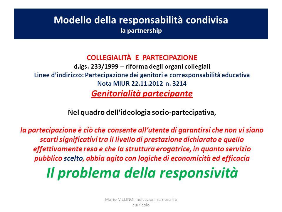 Modello della responsabilità condivisa la partnership