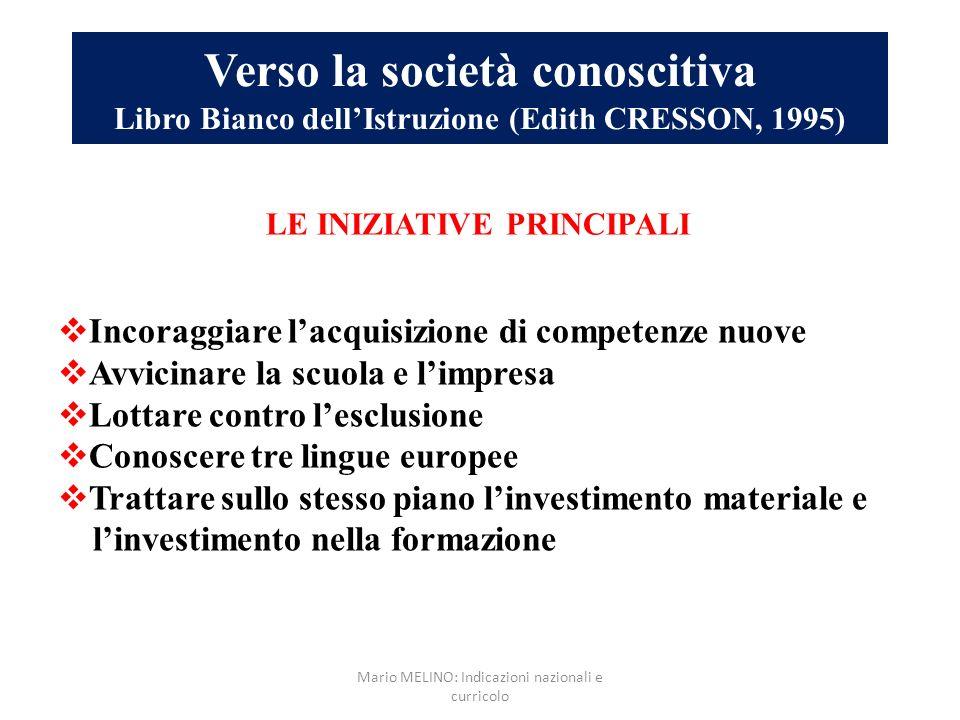 Mario MELINO: Indicazioni nazionali e curricolo
