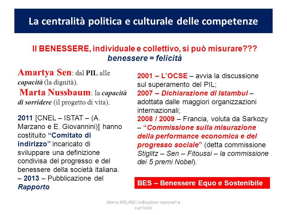 La centralità politica e culturale delle competenze