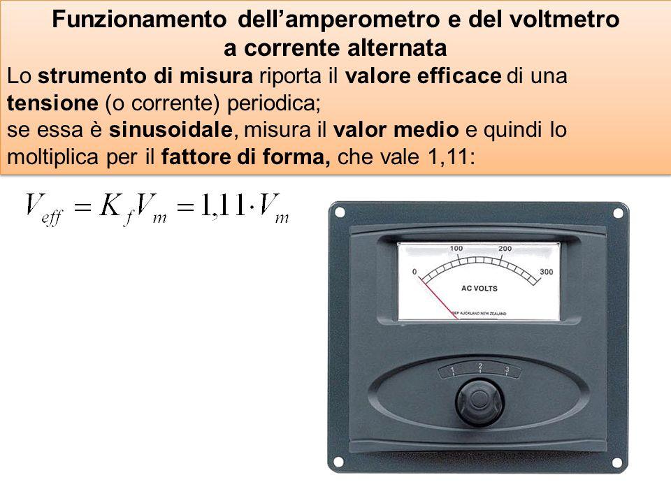 Funzionamento dell'amperometro e del voltmetro