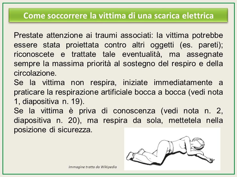 Come soccorrere la vittima di una scarica elettrica