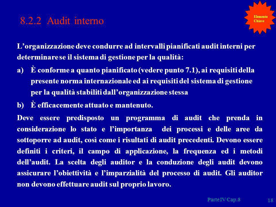 ElementoChiave. 8.2.2 Audit interno.