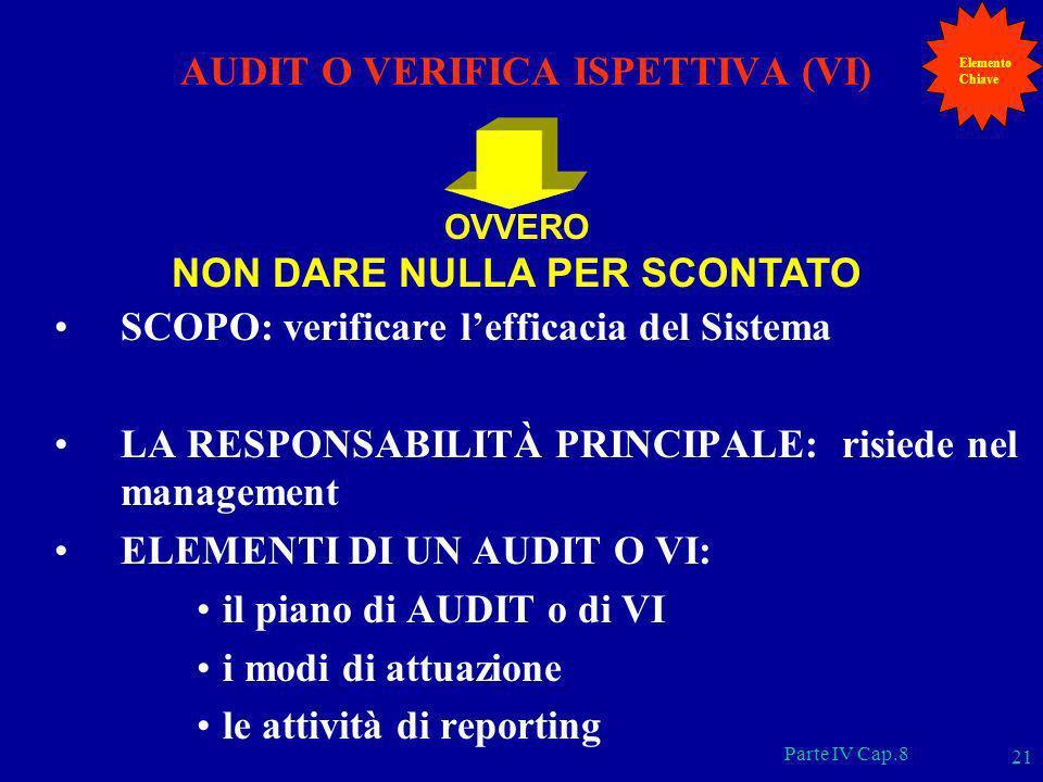 AUDIT O VERIFICA ISPETTIVA (VI)