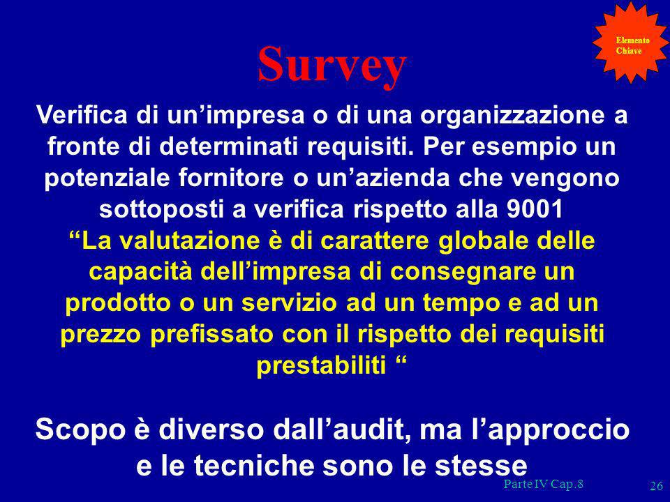 Elemento Chiave. Survey.