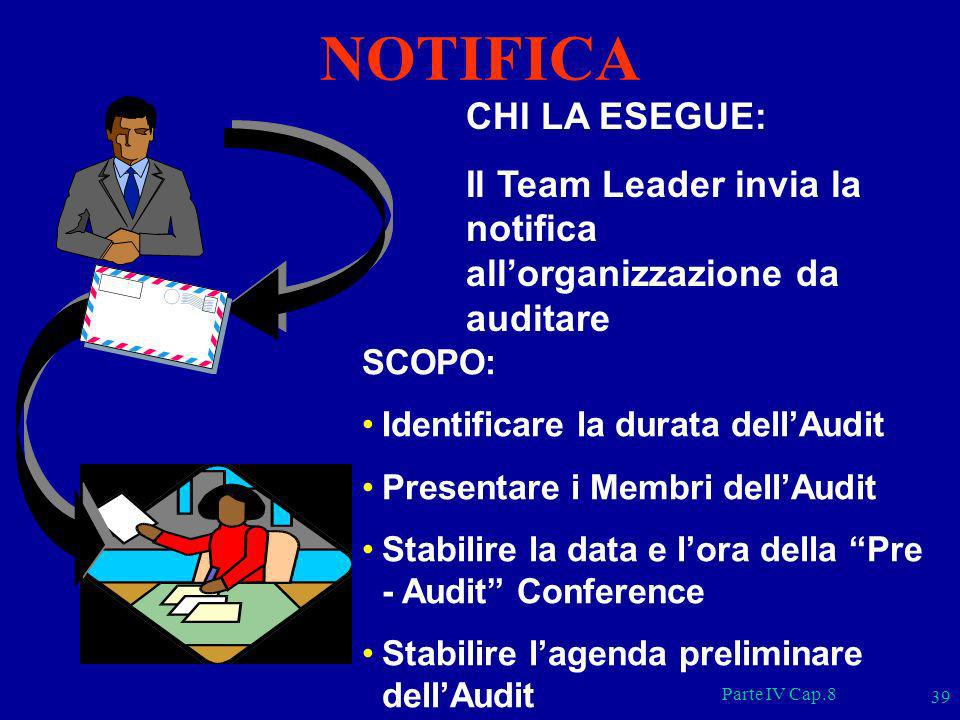 NOTIFICA CHI LA ESEGUE: