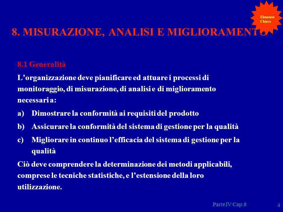8. MISURAZIONE, ANALISI E MIGLIORAMENTO