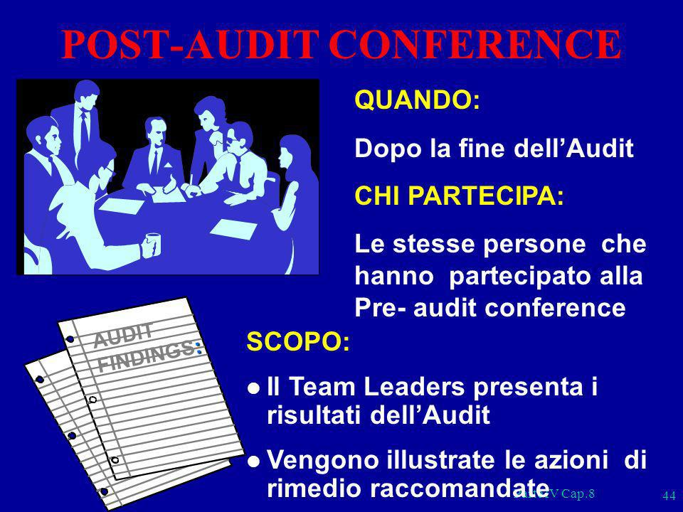 POST-AUDIT CONFERENCE