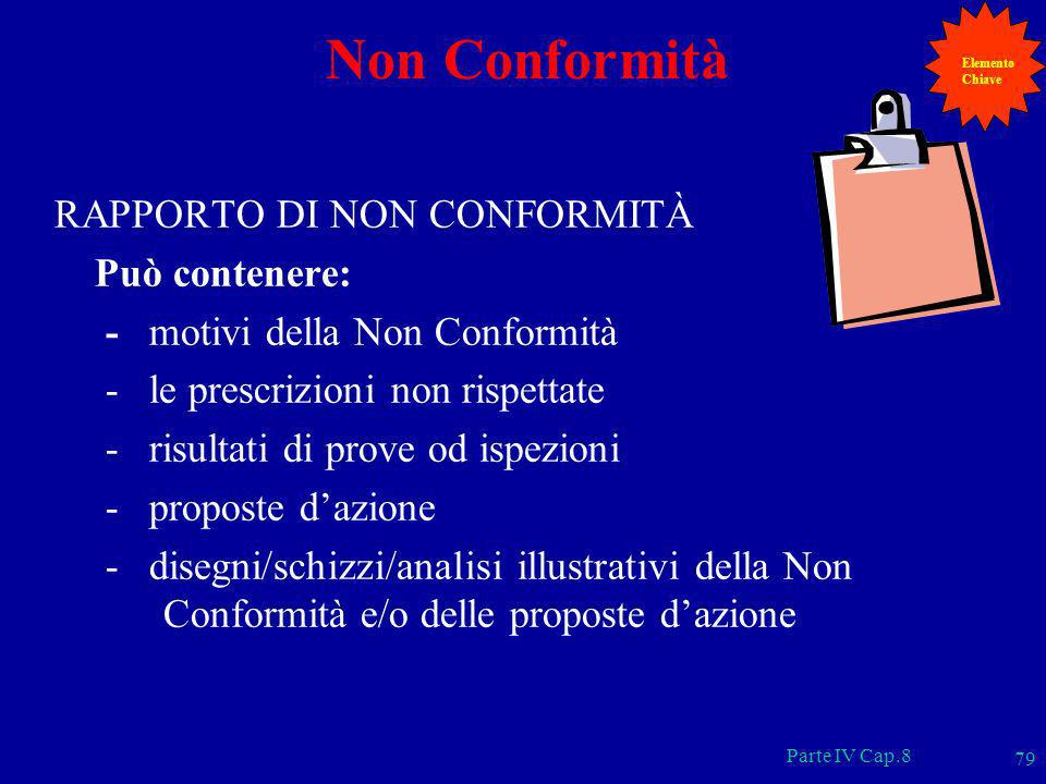 Non Conformità RAPPORTO DI NON CONFORMITÀ Può contenere: