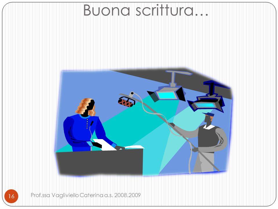 Buona scrittura… Prof.ssa Vagliviello Caterina a.s. 2008.2009