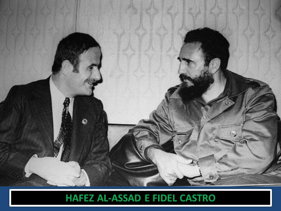 HAFEZ AL-ASSAD E FIDEL CASTRO