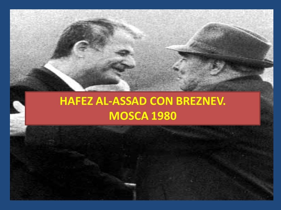 HAFEZ AL-ASSAD CON BREZNEV.