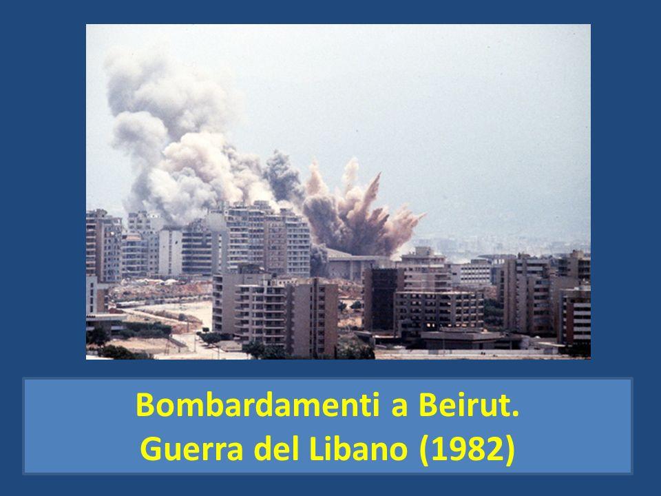 Bombardamenti a Beirut.