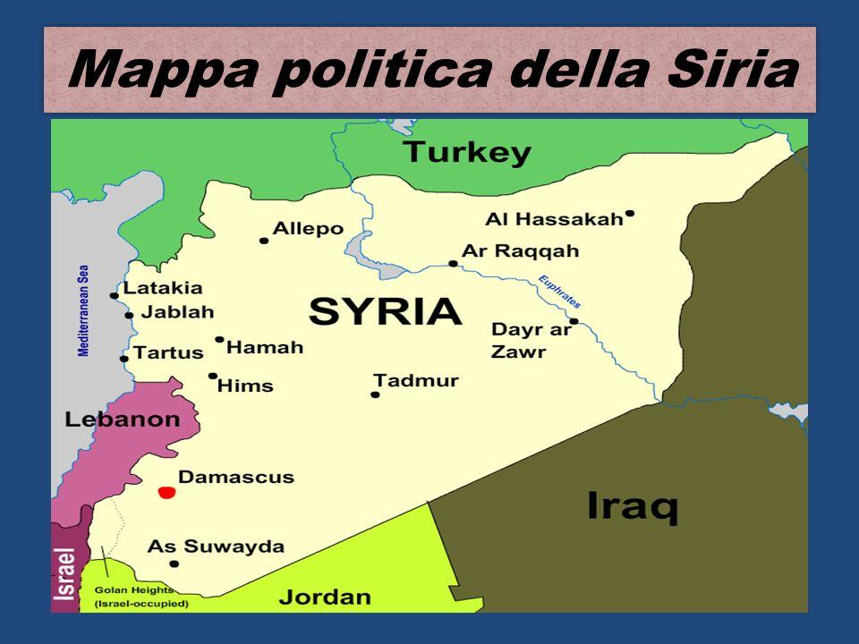 Mappa politica della Siria
