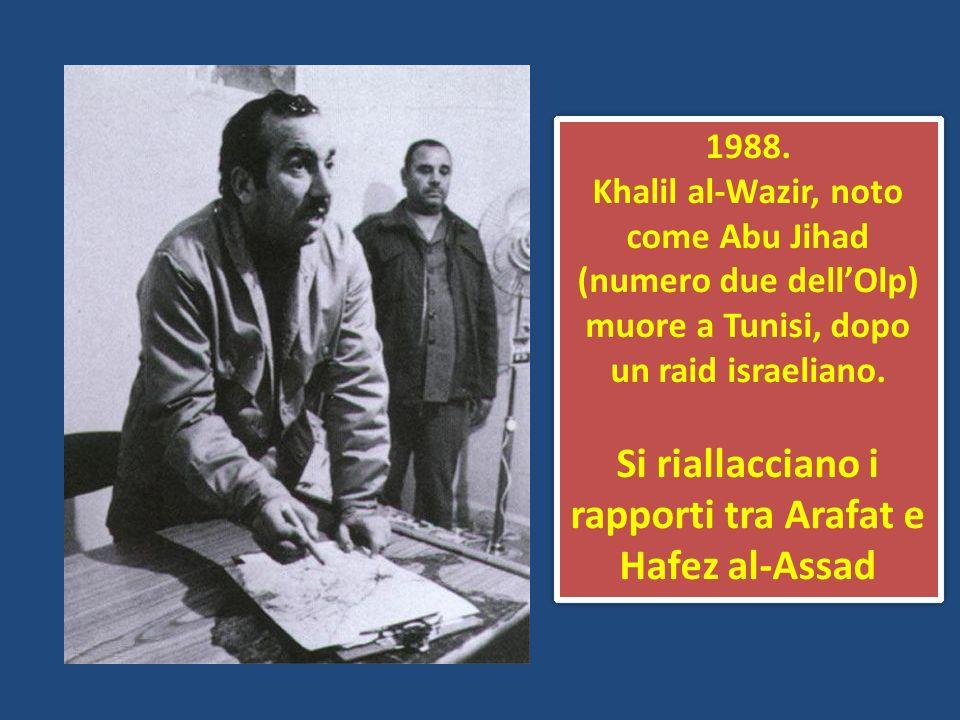 Si riallacciano i rapporti tra Arafat e Hafez al-Assad