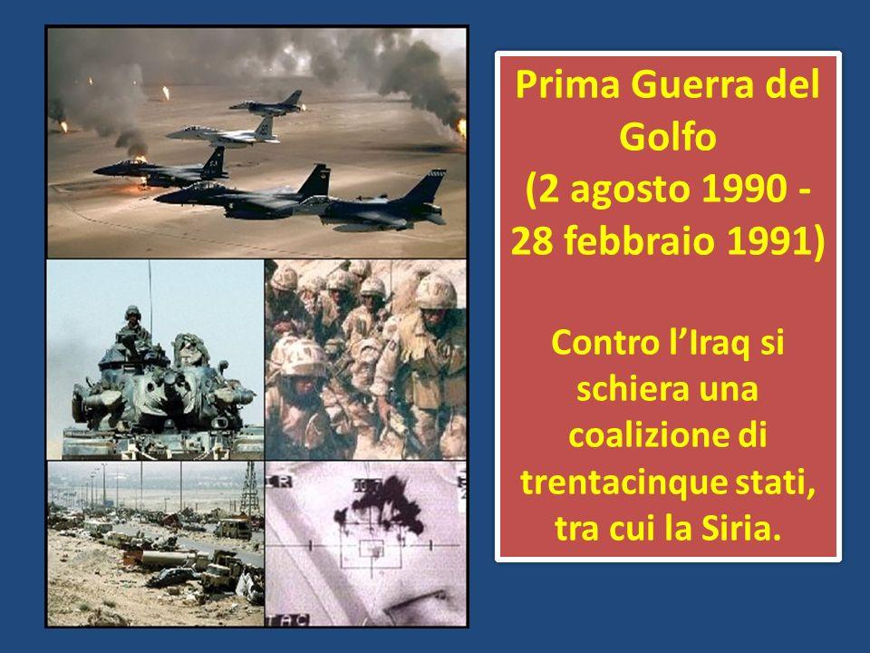 Prima Guerra del Golfo (2 agosto 1990 - 28 febbraio 1991)