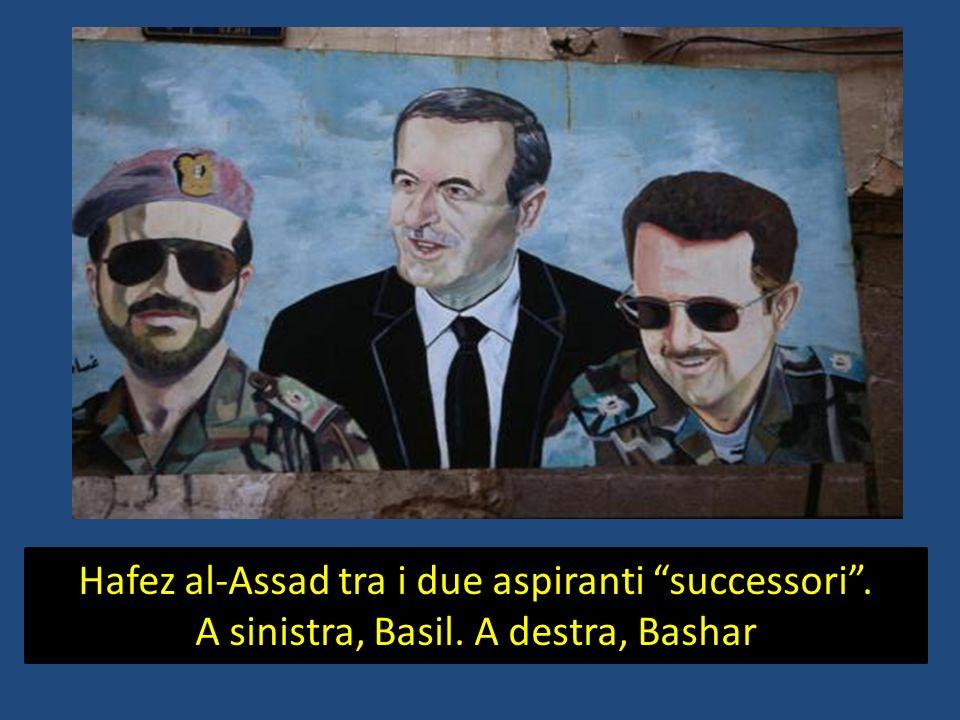 Hafez al-Assad tra i due aspiranti successori .