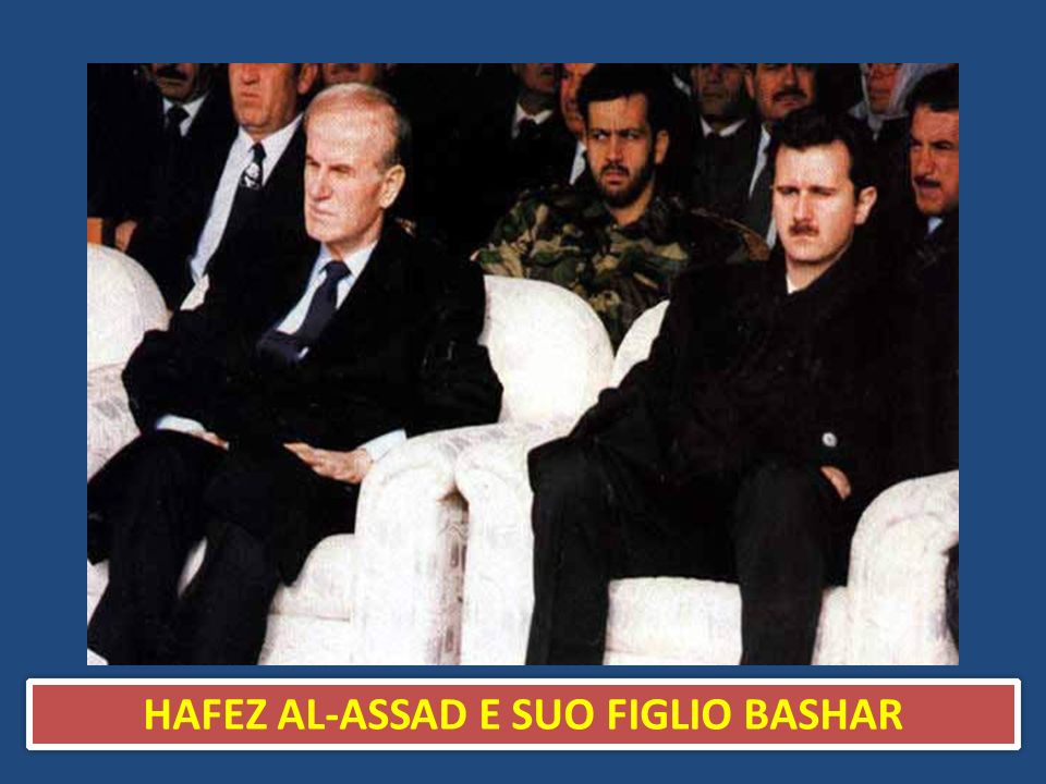 HAFEZ AL-ASSAD E SUO FIGLIO BASHAR