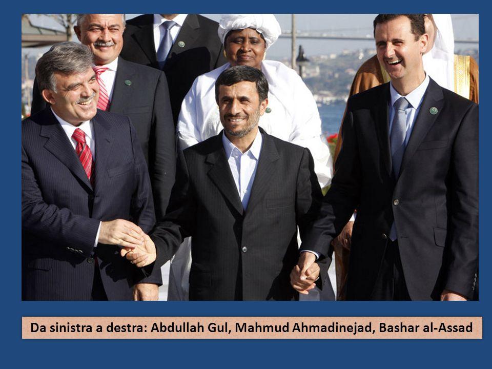 Da sinistra a destra: Abdullah Gul, Mahmud Ahmadinejad, Bashar al-Assad