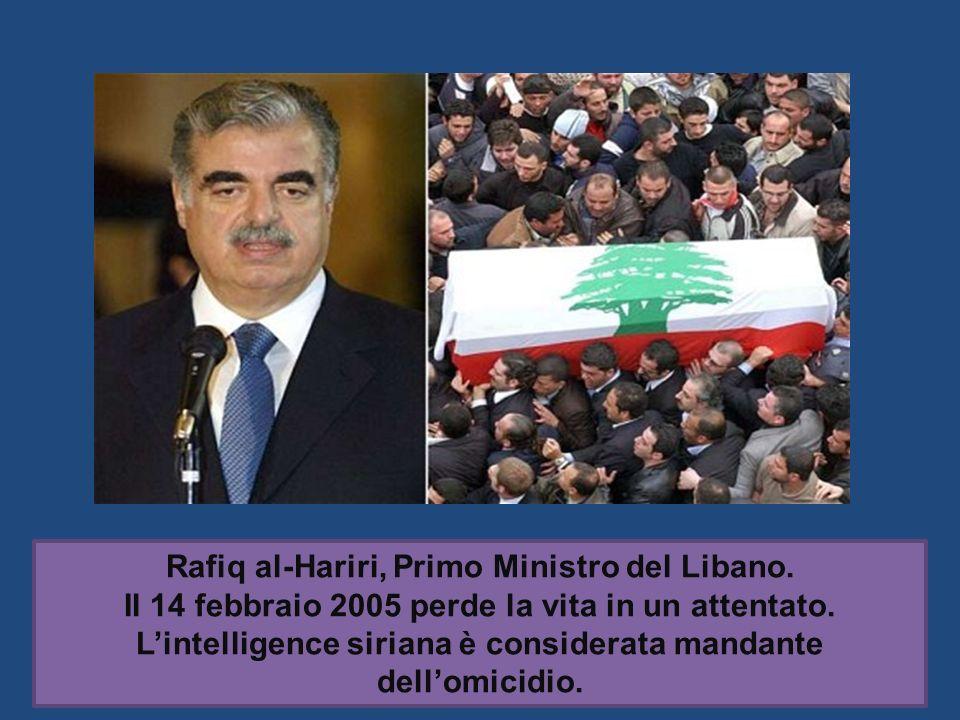 Rafiq al-Hariri, Primo Ministro del Libano.