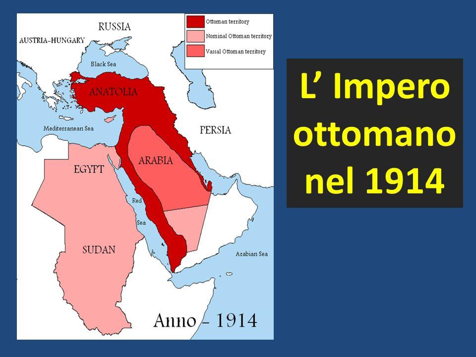 L' Impero ottomano nel 1914