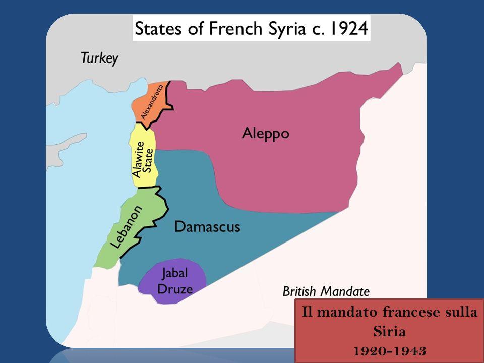 Il mandato francese sulla Siria