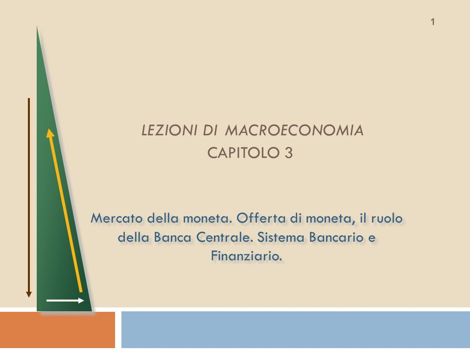 LEZIONI DI MACROECONOMIA CAPITOLO 3