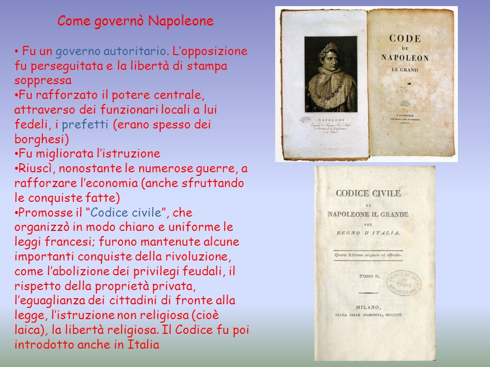 Come governò Napoleone