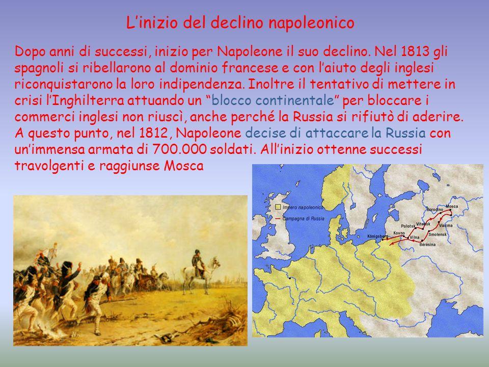 L'inizio del declino napoleonico
