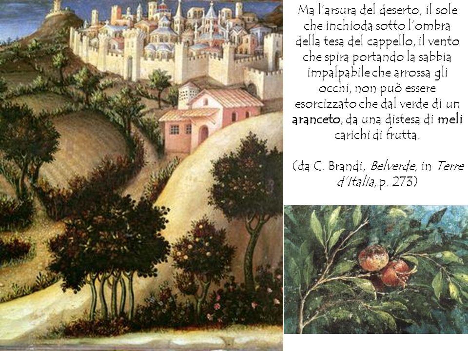 (da C. Brandi, Belverde, in Terre d'Italia, p. 273)