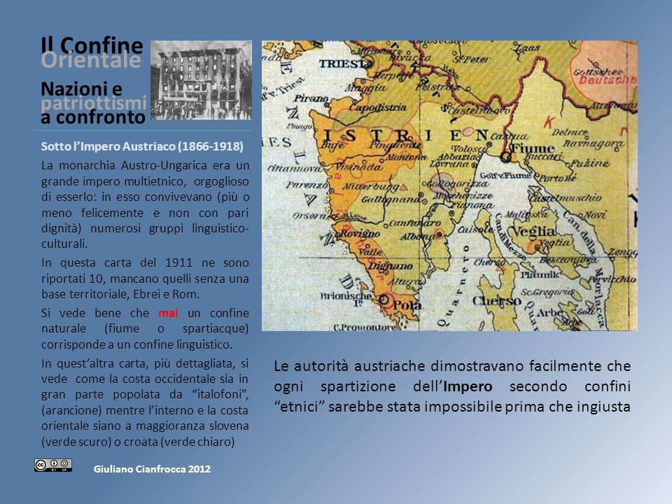 Il Confine Orientale Nazioni e patriottismi a confronto