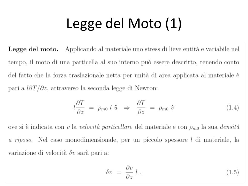 Legge del Moto (1)