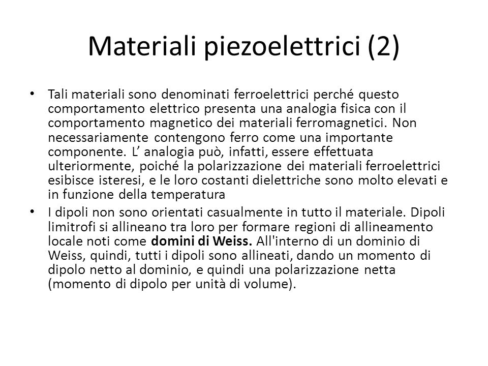 Materiali piezoelettrici (2)