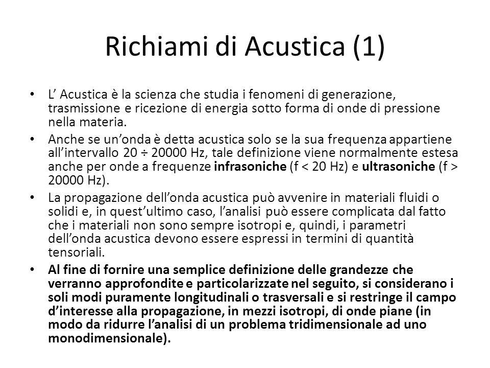 Richiami di Acustica (1)