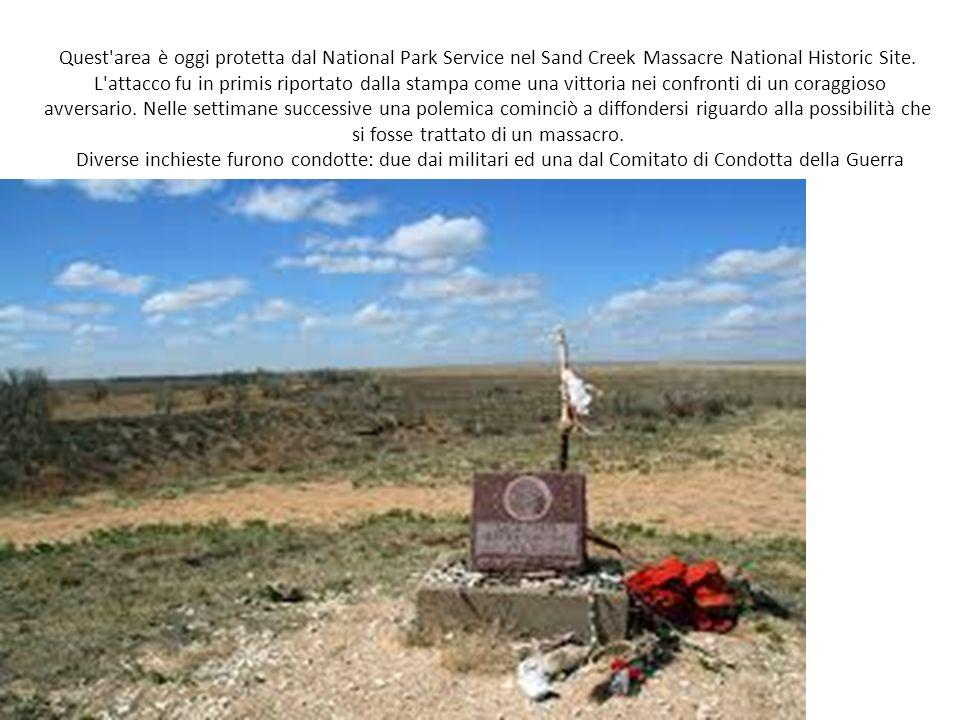 Quest area è oggi protetta dal National Park Service nel Sand Creek Massacre National Historic Site.
