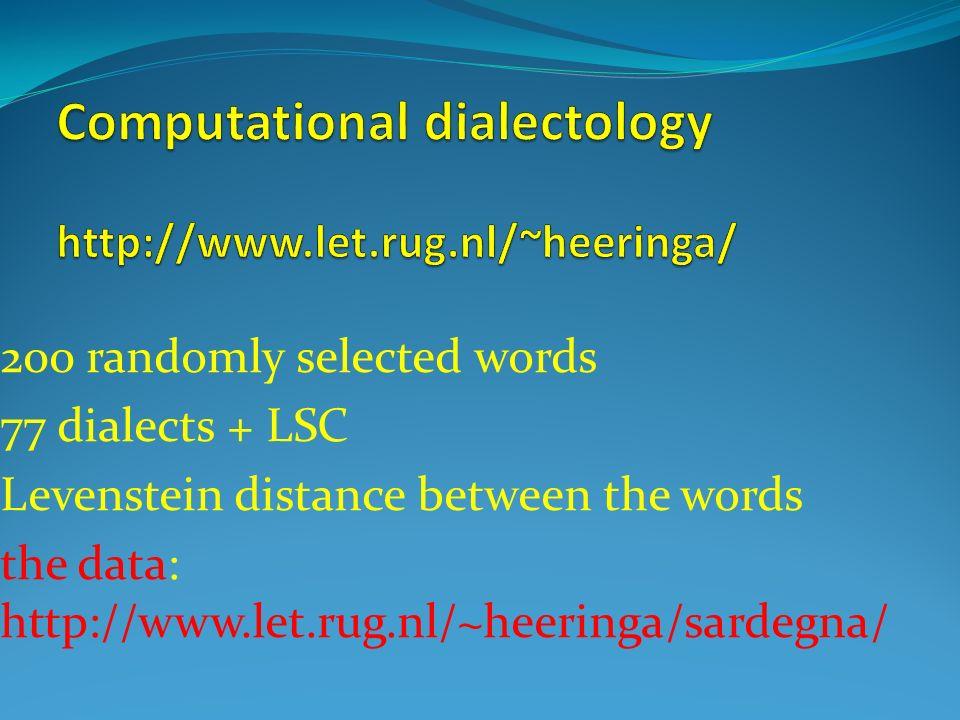 Computational dialectology http://www.let.rug.nl/~heeringa/
