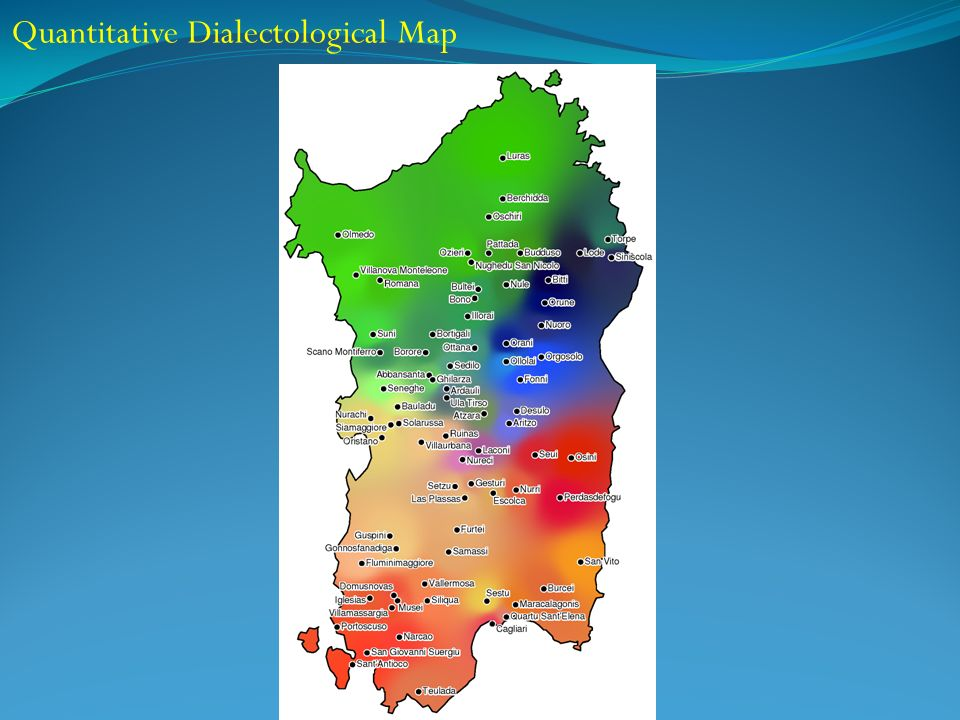 Quantitative Dialectological Map