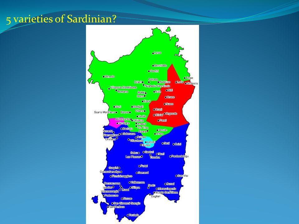 5 varieties of Sardinian
