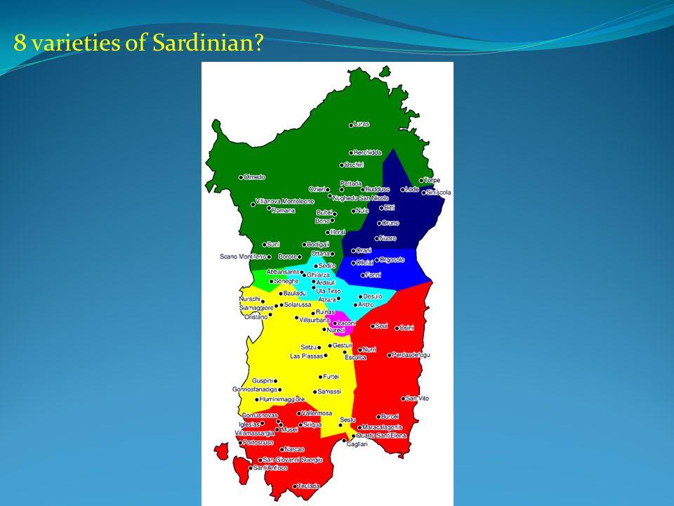 8 varieties of Sardinian
