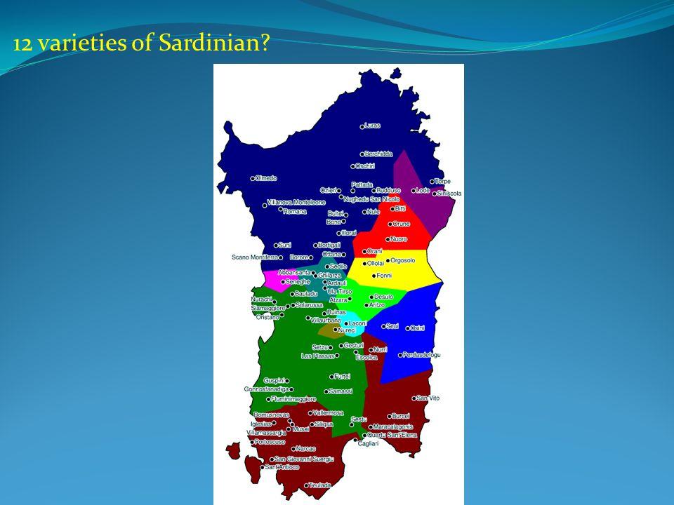12 varieties of Sardinian