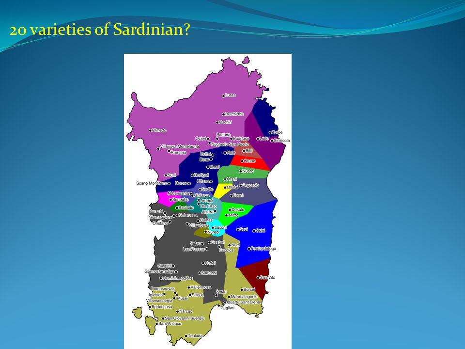 20 varieties of Sardinian