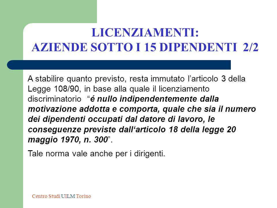 AZIENDE SOTTO I 15 DIPENDENTI 2/2